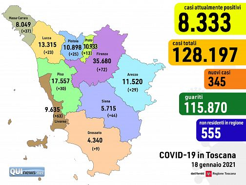 Cartina Toscana Provincia Di Siena.Altri 22 Morti Per Covid In Toscana 7 Casi Gravi In Piu Attualita Toscana